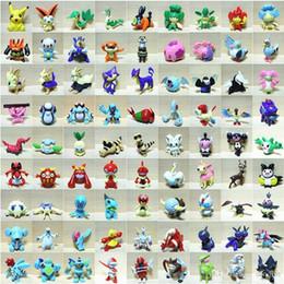 estoque de video games Desconto 144 pçs / set Figuras Brinquedo Dos Desenhos Animados Anime Mini Bulbasaur Charmander Blastoise Figuras de Ação Brinquedos Infantis Presentes de Aniversário Mista 2-3 cm