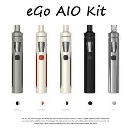 Wholesale E Cigs Joyetech Kits - 100% Original Joyetech eGo AIO Kit With 2.0ml Capacity 1500mAh Battery Anti-leaking Structure and Childproof Lock All-in-one style E Cigs