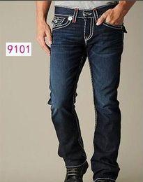 Wholesale Black Jeans Men Bootcut - fashion Good quality NEW hot Men's Robin Rock Revival true Jeans Crystal Studs Denim Pants Designer Trousers Men's size 30-40