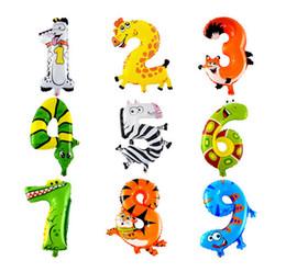 Воздушные шары алфавита онлайн-16 дюймов мультфильм алфавит 0-9 фольги письма воздушные шары Рождество День Рождения украшения любовь воздушные шары детская вечеринка 50 шт. мин