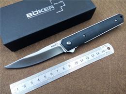 Wholesale Pockets Knives - BOKER Kwaiken Ball Bearing Flipper Folding Knife G10 Handle 9Cr18MoV Steel Outdoor Camping Survival Knives EDC Pocket Knife