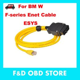 Wholesale Icom Code - 2016 ESYS Data Cable OBD Ethernet Code for bmw ICOM a2 Interfac OBD2 for bmw ESI Enet Cable E-SYS ICOM Coding Diagnostic Cable