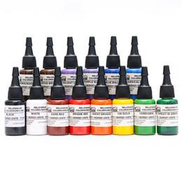 Wholesale Colors Tattoo - Hot Sale Professional 14 Colors Of MOM Tattoo Inks 0.5OZ Pigment 15ML Tattoo Kits Supply