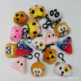 expressions games Coupons - 5.5cm Emoji expression Plush Doll Keychain EMS 10 style QQ Expression Stuffed monkey animal keyring Plush Doll Toys B