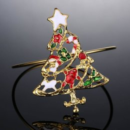 Wholesale Wholesale American Fashion - Bracelets for women European and American fashion alloy bracelets Colorful Christmas tree bangle Best git for christmas