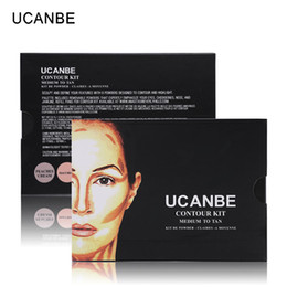 Wholesale Sharp Media - UCANBE Makeup Highlighter Bronzer Kit 6 Color Powder Contour Palette Light To Medium Contouring Highlighting Shading Face Sharp