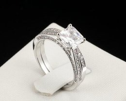 Wholesale princess cut diamond ring gold - 2CT Princess-Lad Cut Diamond Solitaire Bridal Engagement Ring 14k White Gold Finish