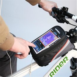 Wholesale Dirt Bike Tubes - Outdoor Cycling Sport Bicycle Bag Mountain Bike Saddle Bag Pack Motorcycle Tube Equipment Accessories Touch Screen Mobile Phone Package