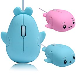 2018 animales con cable Mini Cute 3D Dolphin Mouse USB con cable Optical Gaming Mice Novedad Whale Fish Animal Dolphin en forma de Ergonomic Gaming Mouse regalo para PC Portátiles animales con cable oferta