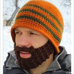 Wholesale roman winter hat - winter Fashion Mustache hat Handmade Knitted Crochet Beard Hat Bicycle Mask Ski Cap roman knight octopus Cool Funny beanies Gift Free Shipp