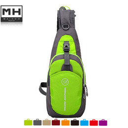 Wholesale Cycling Phone - Wholesale-2016 unisex ourdoor nylon bag solid small travel bag multifunctional cycling backpack phone pocket hiking zipper Chest Bag