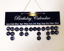 Wholesale Green Wall Board - DIY brand special family birthday calendar date planning board plastic hanging decorative gift new 2016 European and American fashion