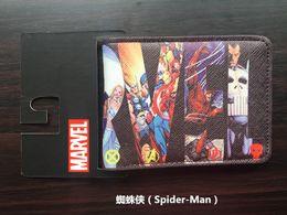 Wholesale American Animation - Marvel series spider man movie The Amazing Spider-Man Venom Wallet Purse soft short animation students purse