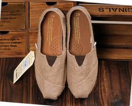Wholesale Women Canvas Platform - 2017 Free Shipping Linen Multi Casual Fashion Women men Shoes Flat Platform Lazy Breathable Espadrilles Canvas Shoes 2colors