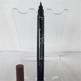 Wholesale Design Pens Cheap - Cheap Price Kylie Jenner Black Brown Liquid Double Eyeliner Long-lasting Waterproof liquid Pen eye liner Gel Thin Design eyeliner