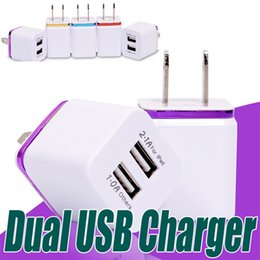 Wholesale Tablet Wall Chargers - Malloom Metal Dual USB Wall Charger EU US Plug 2.1A Adapter Charger Plug 2 Port for Samsung galaxy note LG Tablet