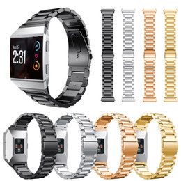 Wholesale Metal Smart Watches - 2017 Newest Smart Accessories for Fitbit Ionic Stainless Steel Strap Smart Watch Band Metal Replacement Band for Fitbit Ionic