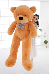 Wholesale life size toy christmas - 5 COLORS Giant 160CM 180CM 200CM large teddy bear plush toy big stuffed toys kid baby life size doll girl Christmas gift