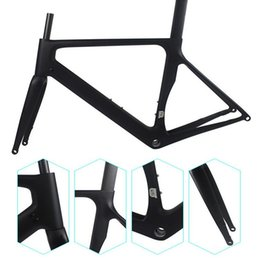 Wholesale Road Bike Carbon 49cm - Free shipping Newest racing road frame VE-GE weight 1985g with handlebar SIZE 49 58cm bicycle frames factory direct sales