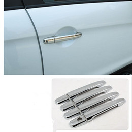 Wholesale Chrome Door Handles Cover - Car styling For Mitsubishi ASX Outlander sport RVR 2011 2012 2013 Chrome car door handle cover exterior accessories