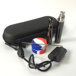 Wholesale E Solids - Double quartz coil wax concentrate vape pen vaporizer electronic cigarette puffco pro cloud vapor e cigarette pen e solid smoker