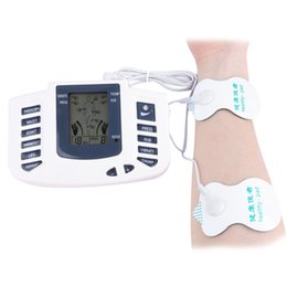 Wholesale Electronic Muscle Pulse - Gustala Electronic Body Slimming Pulse Massage Digital Display Muscle Relax Pain Relief Stimulator Acupuncture Therapy Machine +B