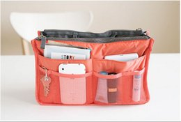 Wholesale Sky Blue Mp3 - 25pc 14 color Women Storage Cosmetic Bag Makeup Bag Purse MP3 Mp4 Phone Organizer lady bag in bag Sundry Bags Zipper Tidy Bag 30*18.5*8.5CM
