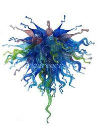 Wholesale Cheap Blown Glass Art - Free Shipping Mouth Blown 110v 120v LED Bulbs Elegant Home Murano Glass Art Cheap Chandelier Lamps