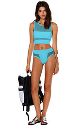 Wholesale Hot Cheap Bathing Suits - perspective multicolor Gauze Swimwear Halter Sexy three point Bikini Hot sell Bathing Suit Exposed Swimsuit Cheap Hot sell Summer swimwear
