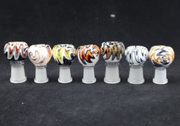 Wholesale Colorful Wigs Wholesale - In stock Wig Wag 2016 Heady Pipes Glass Dome Colorful 18mm 14mm Female Bowl Glass Bongs Bowl Dome