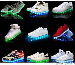 Wholesale Led Flash For Adults - NEW LED Shoes light colorful Flashing Shoes with USB Charge Unisex Fluorescent Couple Shoes Party and Sport Casual Shoes for Kid and Adult