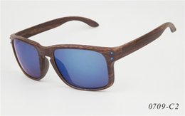 Wholesale Wood Sunglasses Wholesale - hot sell United States wood grain sunglasses Design sunglasses Holbrook sports sunglasses wood sunglass outdoor sports cycling glasses 0709