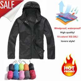Wholesale Slim Casual Jacket For Women - 2016 NEW brand men women Quick dry hiking jackets outdoor sport Skin Dust Coat Waterproof UV Protection for Camping