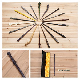 Wholesale Wand Styles - 18 Styles Cosplay Harry Potter magic wand Dumbledore magical wand wizarding world of harry potter Hogwarts Magic with a Gift Box LA160-5