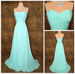 Wholesale Party Dress 18 - Real Photo 2016 Cheap Sweetheart Teal Pleated Chiffon Bridesmaid Dresses Party Gowns Custom Size 2 4 6 8 10 12 14 16 18