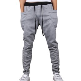 Wholesale Taper Sizes - Wholesale-2016 New Fashion Cross Pants 8 Colors Hip Hop Streetwear Casual Trousers Plus Size Elastic Waist Patchwork Small Tapered Pants