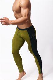 Wholesale Sexy Legging Capris - Men Sportswear Fitness Yoga Gym Spandex Trousers Men Stretch Tight Pants Men Gym Long Pants Low Rise Sexy Sports Running Men's Legging Pant