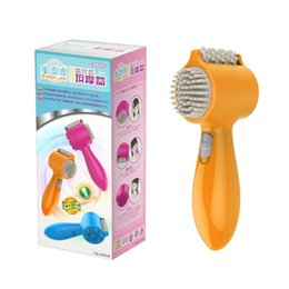 Wholesale mini water taps - New USB Electric Vibration Tapping Massager ABS Plastic Easy Carry Mini Water Wave Comb Head Face Massager 150pcs lot Drop Shipping by DHL
