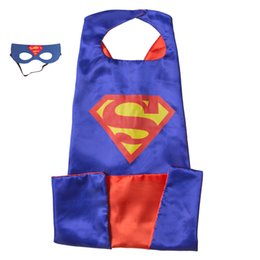 Wholesale Costume Play - L140*W90 CM Adult Superhero Capes with masks - Bat man Adult capes with masks Great for Halloween Christmas Costumes on Play date
