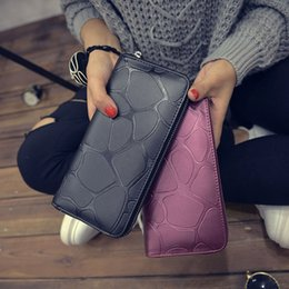 Wholesale Leather Large Purse - Women Hand Phone Wallets Large Capacity Long Leather Design Day Clutch Casual Ladies Cash Purse Female Mobile Zipper Wallet