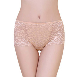 Wholesale See Through Underpants - Wholesale-new seamless lingerie knickers Ultra-thin woman lace boyshorts transparent underwear women see through panties female underpants