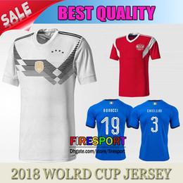 Wholesale Germany Home Soccer Jersey - 2017 2018 Germany home Jerseys 2018 World Cup OZIL MULLER GOTZE HUMMELS KROOS BOATENG REUS SOCCER JERSEY Maillot de foot Football Shirts