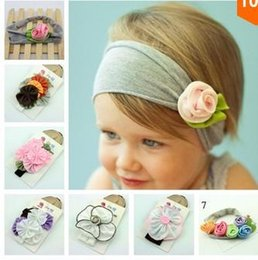 Wholesale Childrens Flower Tops - NEW 2016 TOP BABY Girls Hair Ornaments Baby Flower Headbands Childrens Hair Accessories