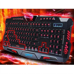 Wholesale Standard Keyboard Computer - ree Shipping 3-Color Switch Backlight USB Wired Feel Gaming PC Laptop Keyboard Teclado Gamer Computer Peripherals keyboard with numeric k...