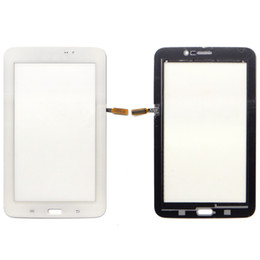 Wholesale Galaxy S2 Glass Touch Screen - Samsung Galaxy Tab 3 Lite 7.0 T110 Touch Screen Digitizer Glass Panel White And Black Tablet Repair Parts Replacement
