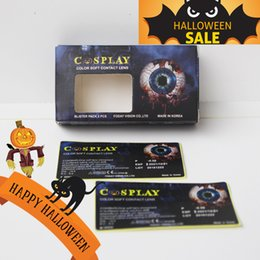 Wholesale Dhl Contact Lenses - Halloween Contact Lens Package Box package contact lenses boxes package DHL free shipping