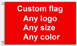 Wholesale Custom Printing Companies - Custom Flag Flying Banner Printing Any Size company advertisement flags and banners With two metal grommets Polyester Fabric Prints