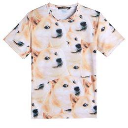 Wholesale 3d Dog Shirts - Fashion Men T shirt 3d multi dogs print short sleeve round neck man funny tops tee plus size SX-041