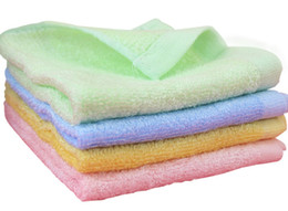 Wholesale Towel Wipe - Baby Washcloths, baby towel Wipes, Bamboo Fiber Bathing Towel , Children's Bamboo Washcloth Baby Scarf 2 Pack
