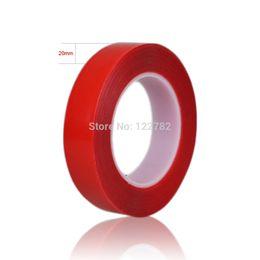 2019 ruban double face rouge en gros Adhésif en gel acrylique à haute résistance à double face 20 mm * 25 m de ruban adhésif rouge à ruban adhésif double face pour écran LCD de téléphone promotion ruban double face rouge en gros